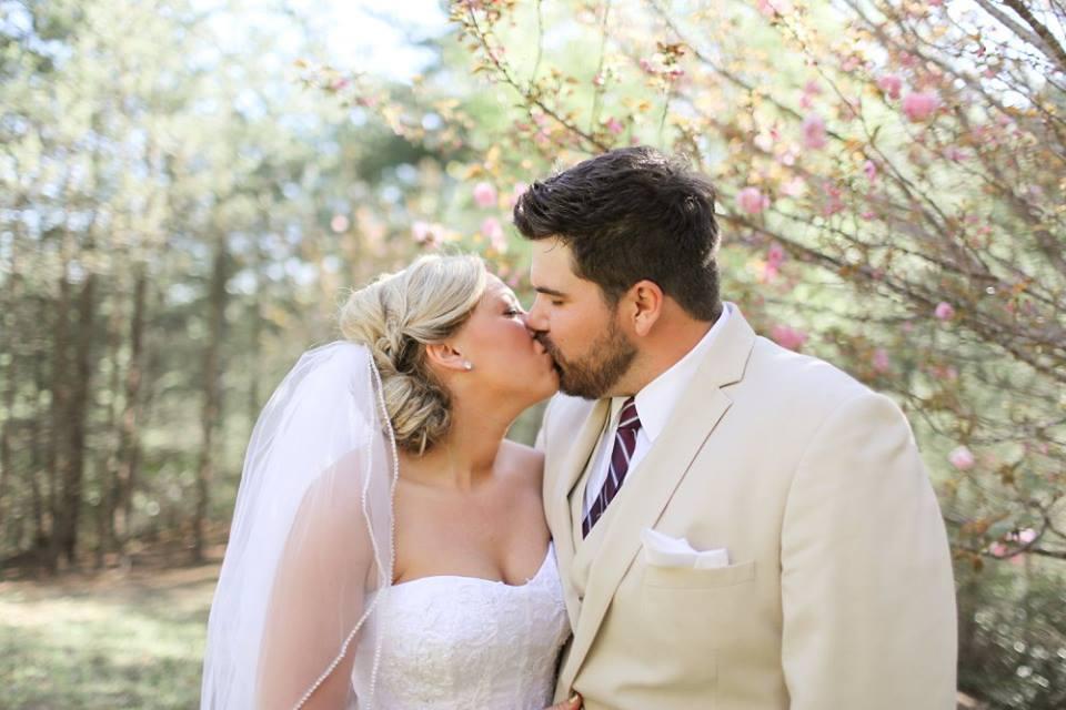 Spring Wedding Bride and Groom