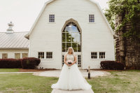 Gorgeous Bride at Blush Barn Wedding