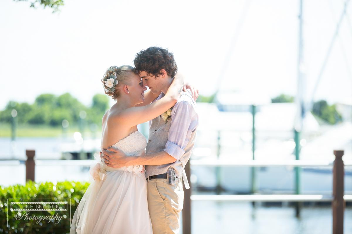 Summer Wedding Bride and Groom in Wilmington