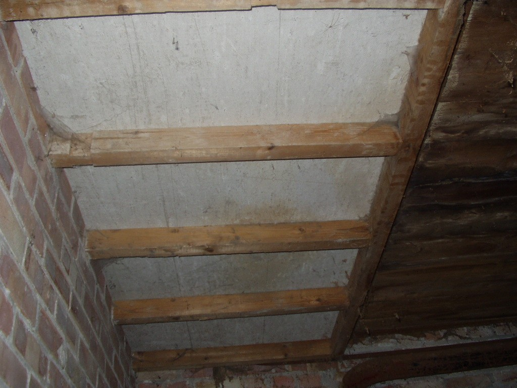 Asbestos cement roof section