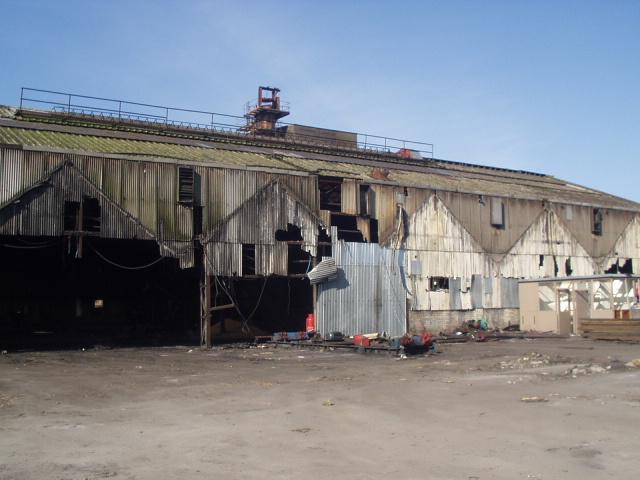 Asbesos Cement and Galbestos building