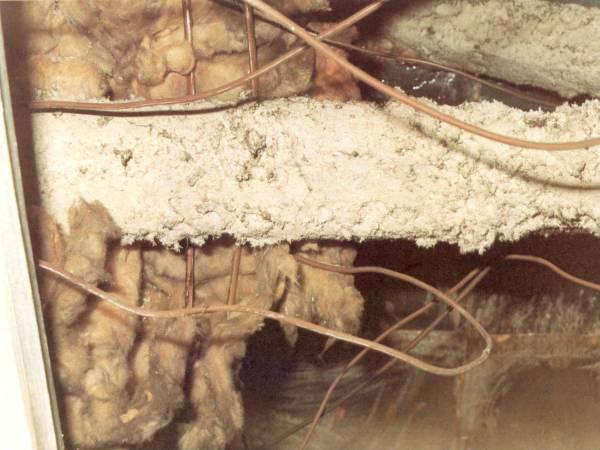 Raw asbestos firebreak