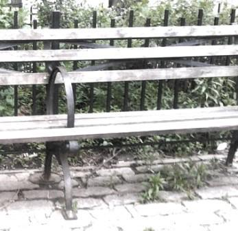 park bench where she broke my heart and we split up after she cheated on me