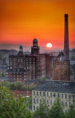 Sun rising over Paisley- Garry Chittick