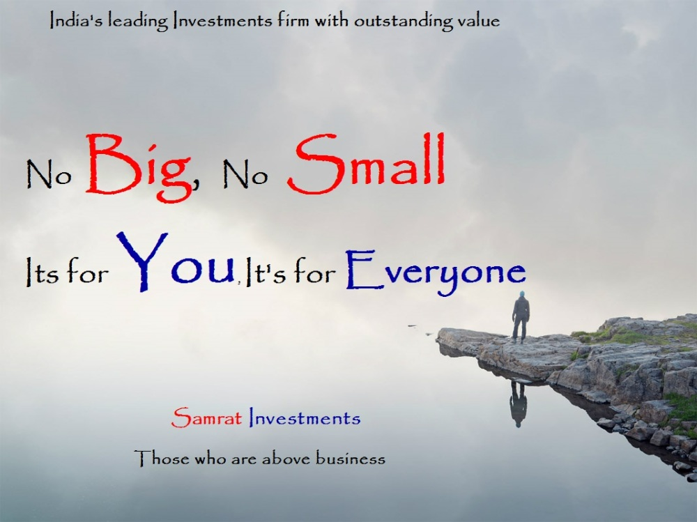 Best  Profitable Investments firm in Delhi, Best Investments Firm In Chandigarh, Best profitable investments firm in pune, Best investments firm in Kolkata, Best profitable investments firm in Mumbai, No big, no small, It's for you, it's for everyone.