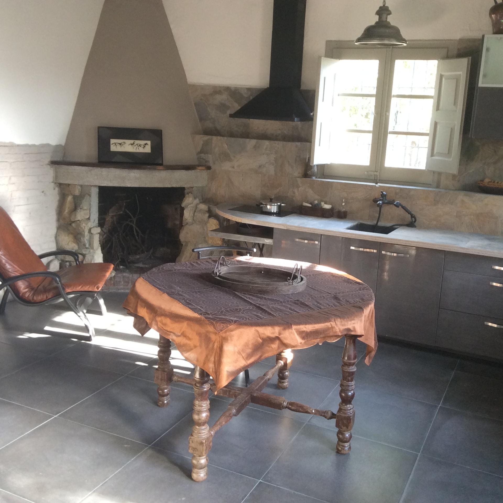 interior design art Barcelona kitchen B&B house rental art spain art consulting