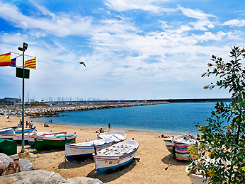 Miles of Beaches near Art Escape Barcelona