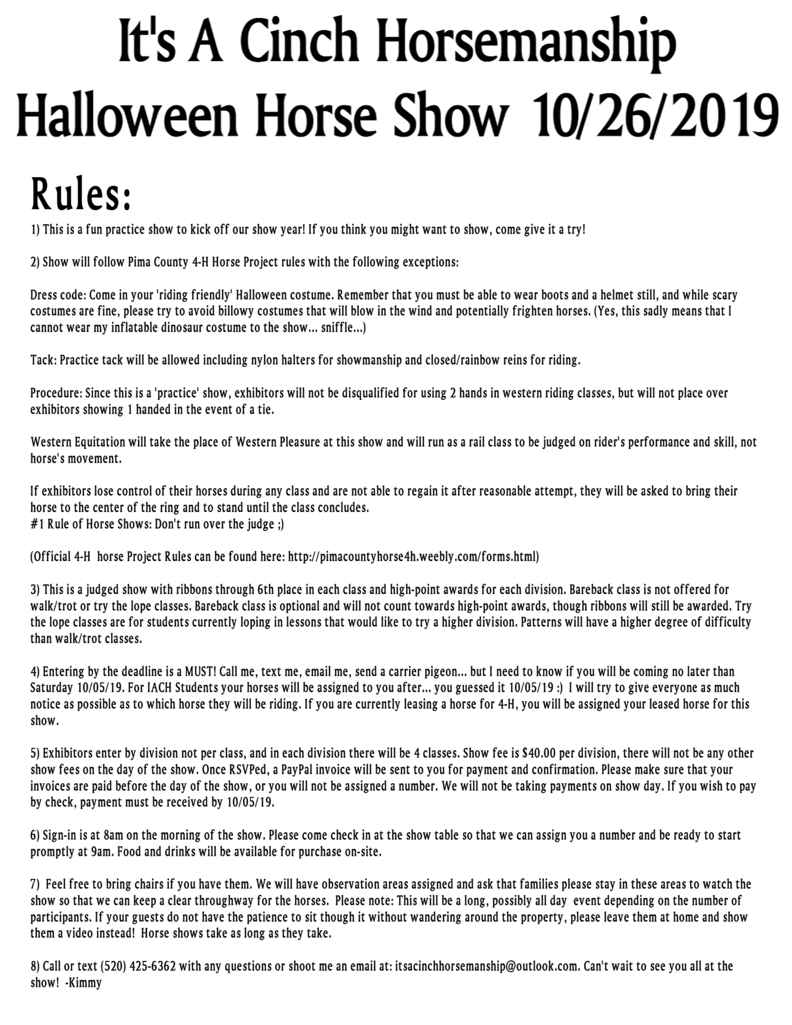 Show Rules