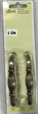 Allison Cabinet Pull Antique Brass 2 Pack