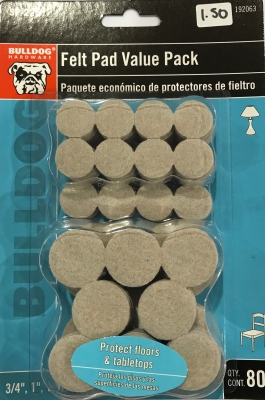 Felt Pad Value Pack 80 Pieces