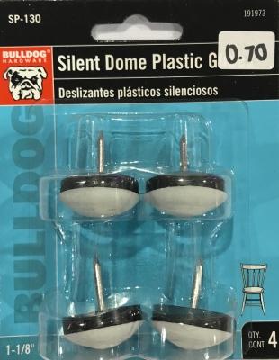 Bulldog Silent Dome Glides Plastic