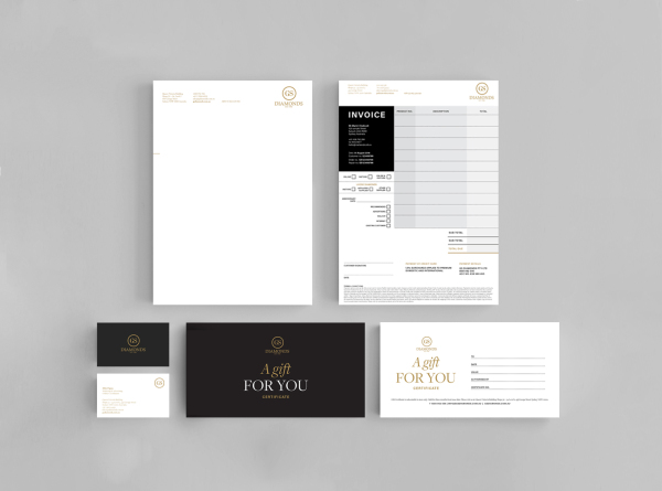 LETTERHEAD, INVOICE, BUSINESS CARD,GIFT & EXCHANGE CERTIFICATES
