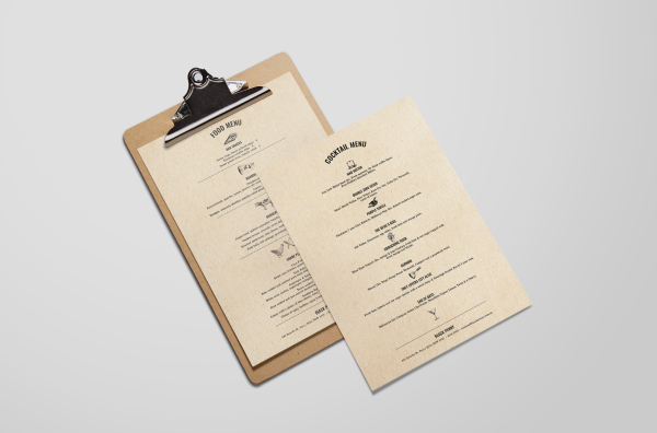 FOOD & COCKTAIL MENU