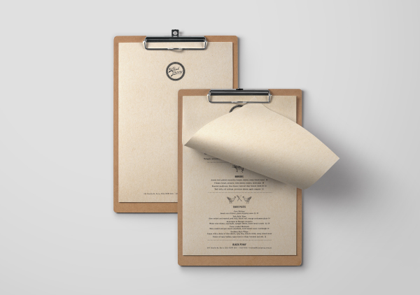 COVER & FOOD MENU