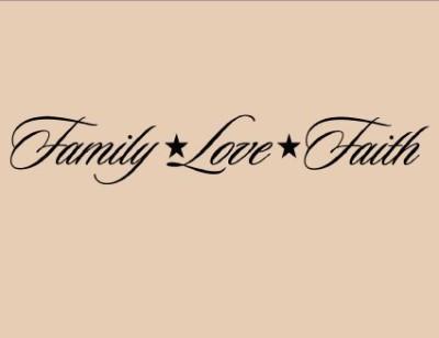 Family, Love, and Faith