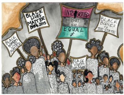 Black Lives Matter Mixed Media, 2015
