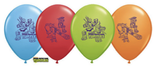 Teenage Mutant Ninja Turtles Latex Balloons 6 pieces in a pack