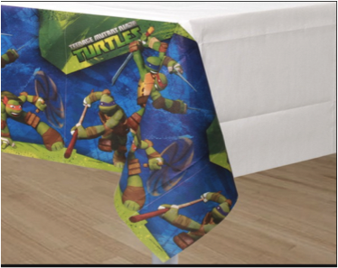 TEENAGE MUTANT NINJA TURTLES - TABLE CLOTH/COVER