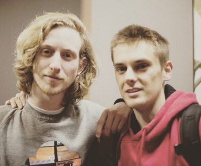 Asher Roth and I in the green room after shooting his promo. 2011