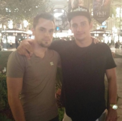 VitalyzdTV and I after I gave him his props LiquidChickens.com.