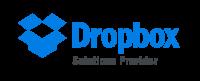 Logo qui démontre que nous sommes un partenaire certifié dans les solutions Dropbox