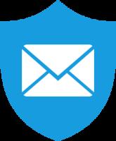 une enveloppe dans un bouclier qui demontre que nous installons et configurons des solutions antispam, anti pourriel