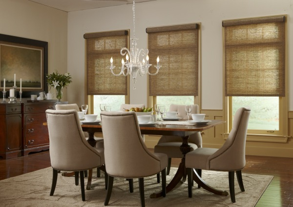 Woven Wood Roman Shades by Horizons