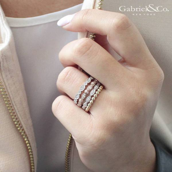 Gabriel & Co. Stackable diamond rings