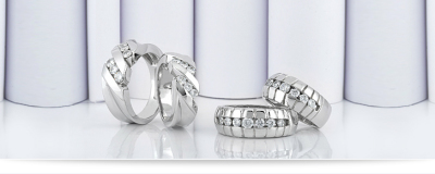 Matching wedding band sets for men and women
