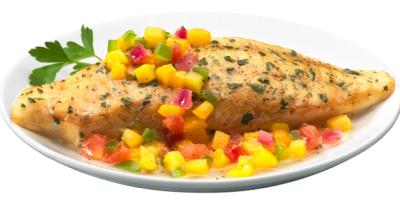 Tilapia en salsa de mango