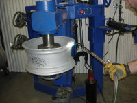 Wheel Straightener, Heating Process