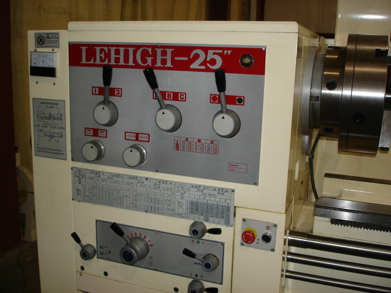 "Manual Lathe D-25"" Headstock"