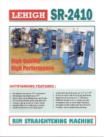 Wheel Straightener SR-2410 Catalog