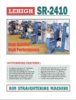 Wheel Straightener SR-2410 Catalog