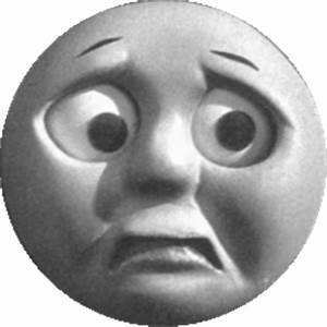 worried face moon cartoon