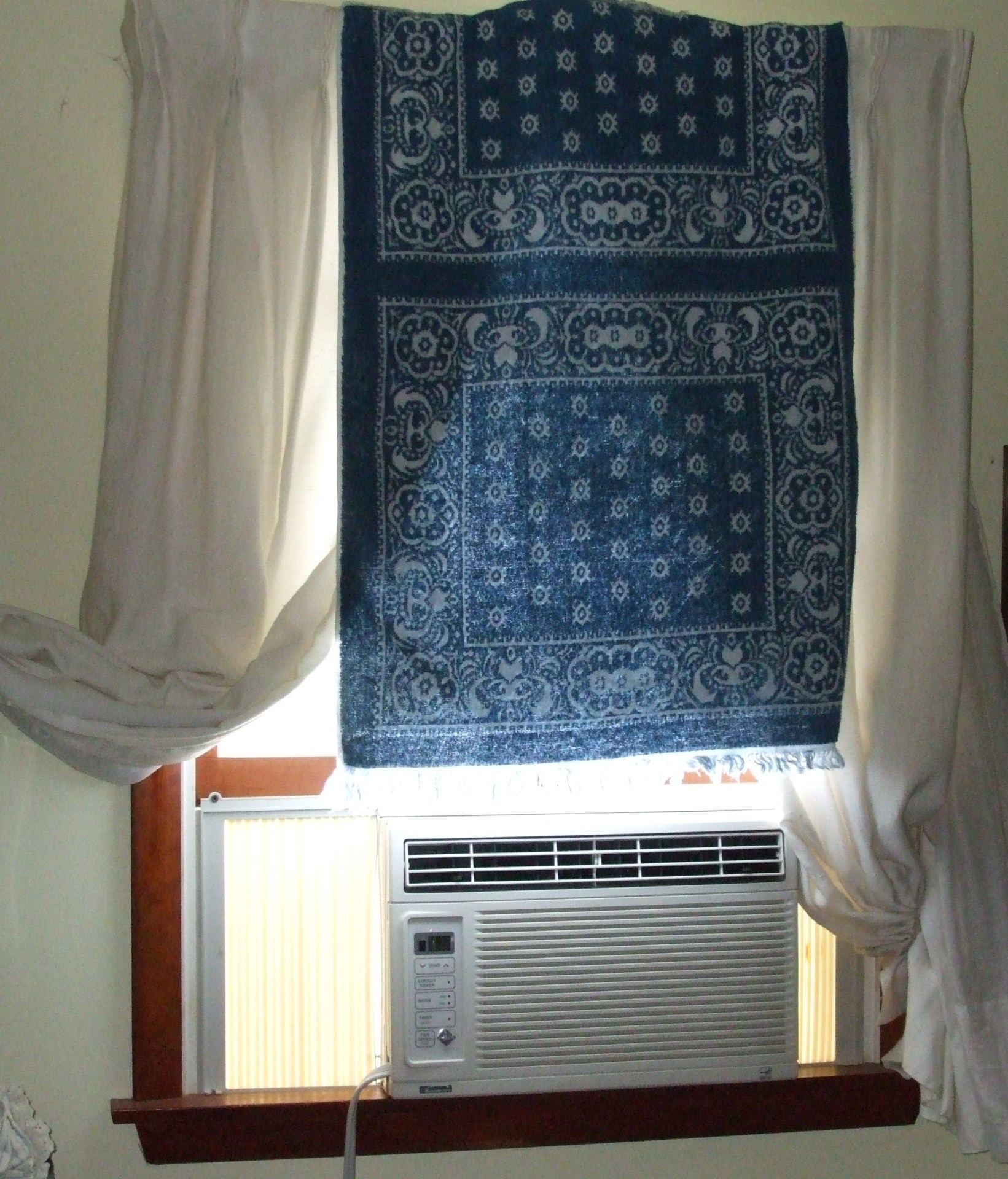 towel covering window