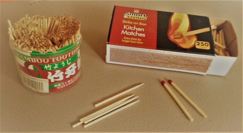 Wooden kitchen matches, wooden toothpicks