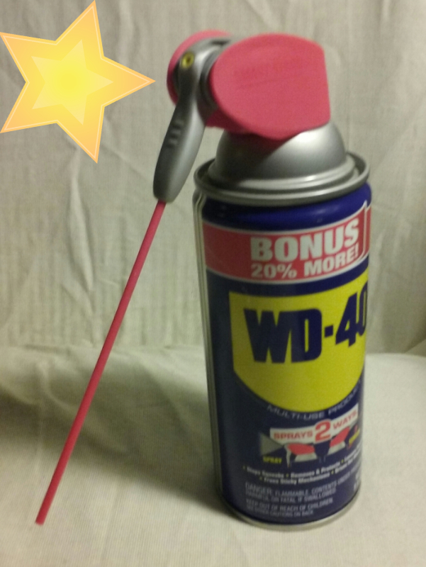 WD40 with attached straw