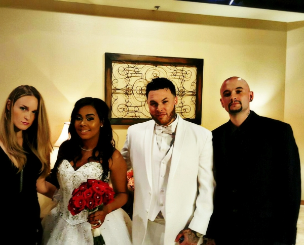 Delyric Oracle and DiesmAe with the Original Playboi and Chanel #wedding
