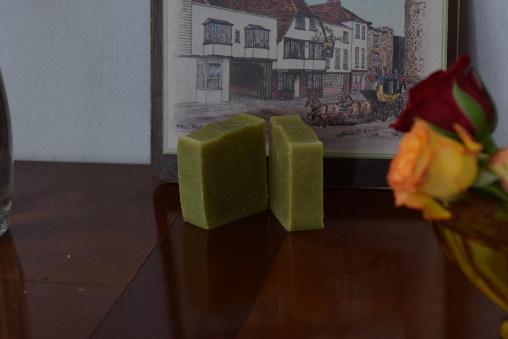 wheatgrass aromatherapy soap herbal painkiller artisanal