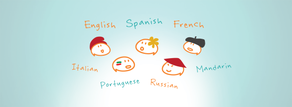 InSchool Academy - Language club mascots. Spanish, French, Mandarin, Russian, and Portuguese club mascots