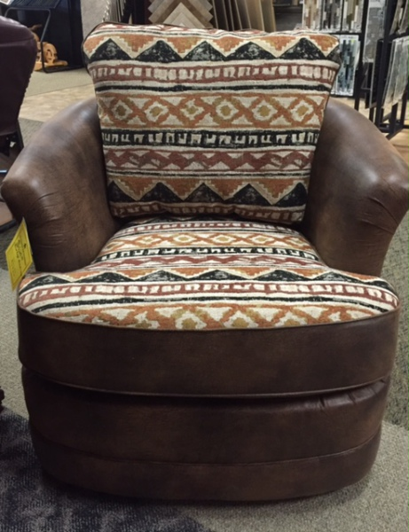 Best Craft Barrel Chair 7403 Platinum Bark/Dodge Driftwood WAS $629.95 NOW $377.95