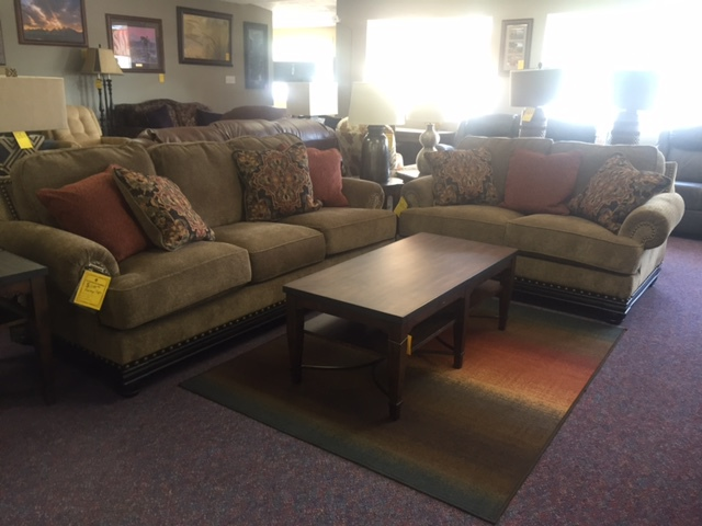 Ashley Sofa WAS $1099.95 NOW $879.95 - Ashley Love Seat WAS $999.95 NOW 599.95