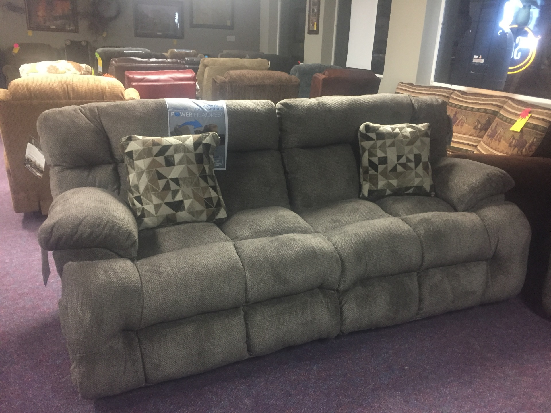 Catnapper Brice Power Sofa with Power Headrest- $1099.95
