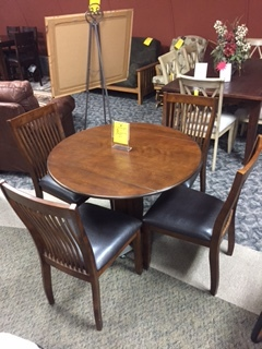 Ashley Round Drop Leaf Table FREE w/purchase of 4 chairs- $399.95