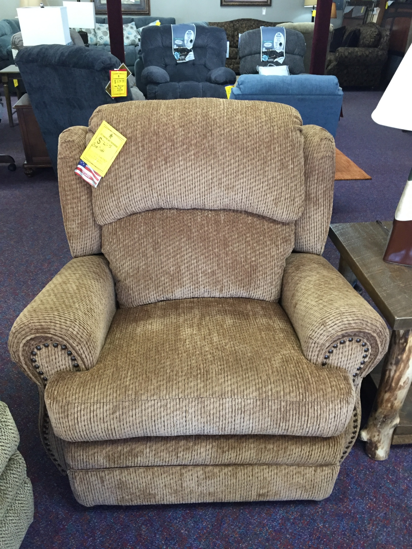 Best Craft Rocker Recliner- Gazette Thistle