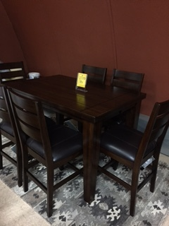 Ashley Butterfly leaf table and 6 chairs- $1399.95