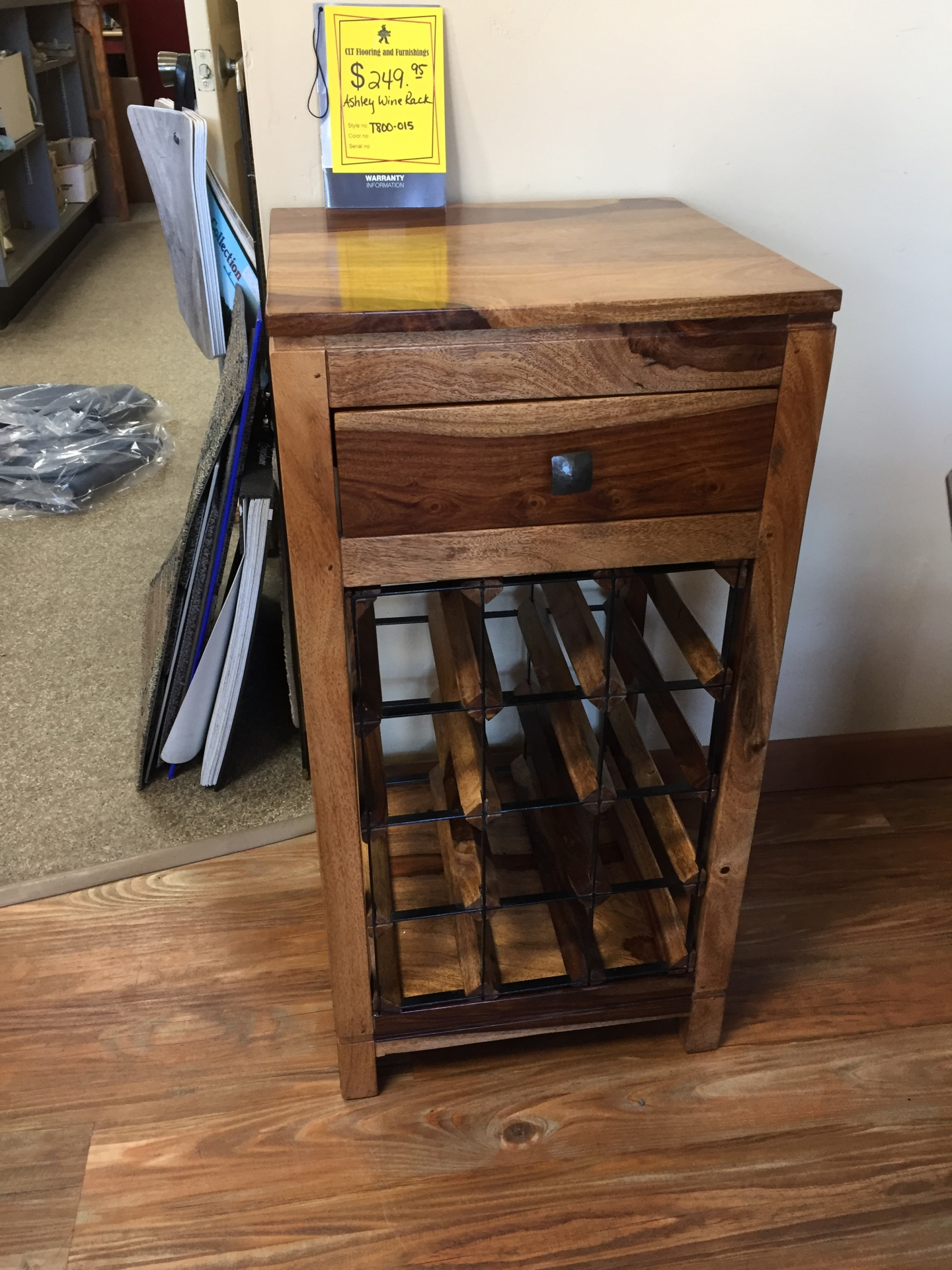 ASHLEY WINE RACK- $249.95 NOW ONLY $215.00