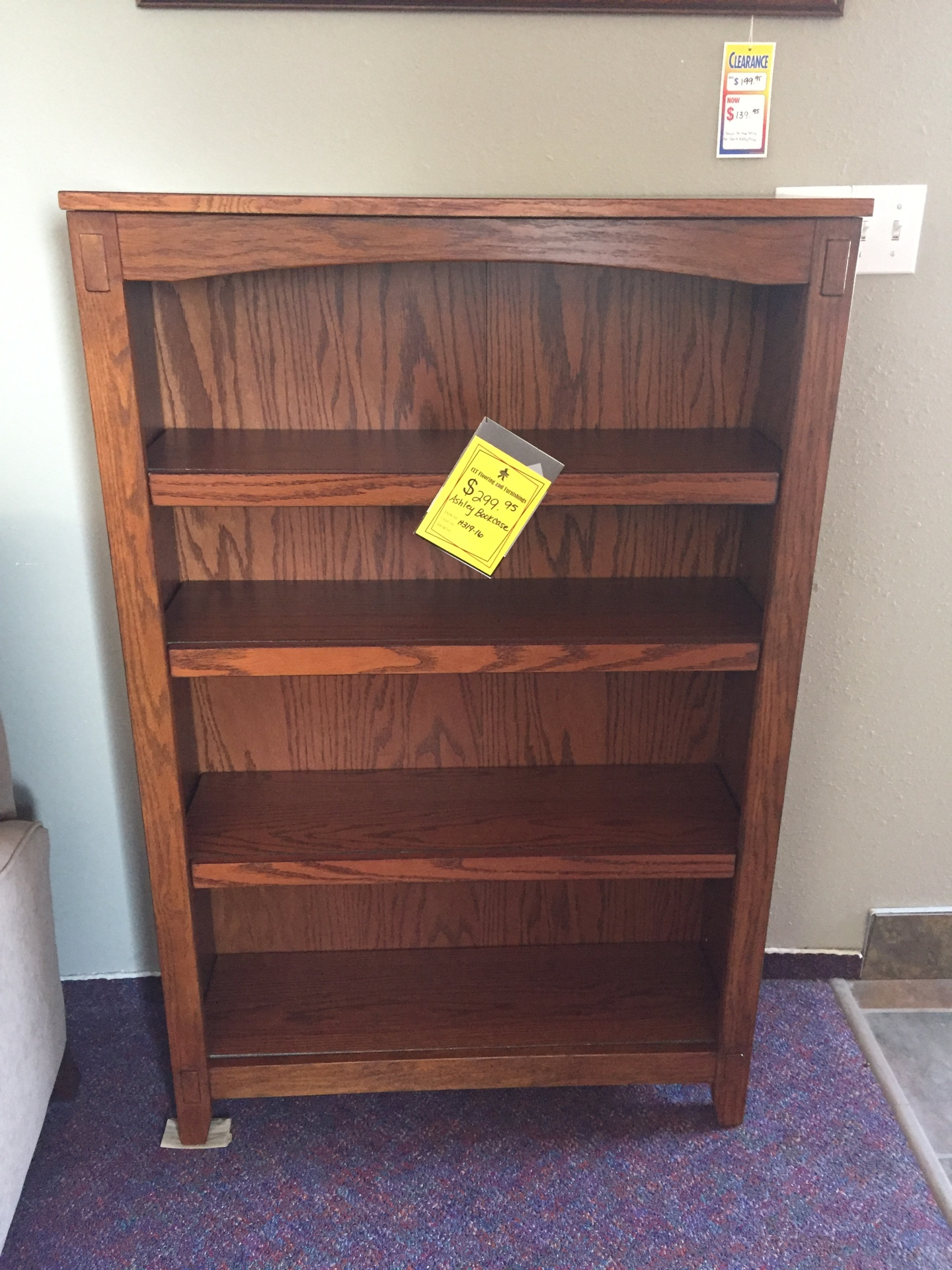Ashley bookshelf- $299.95