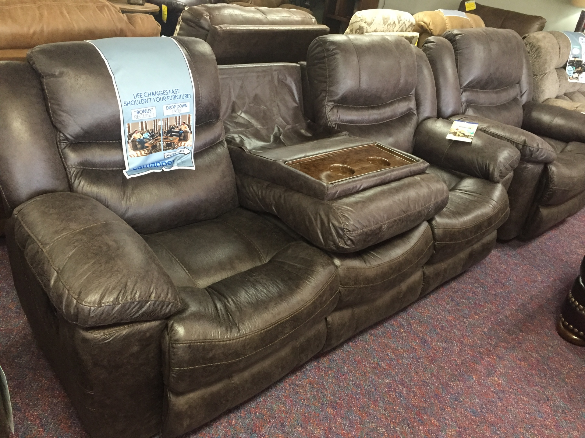 Catnapper Valiant 3 seat Reclining sofa-